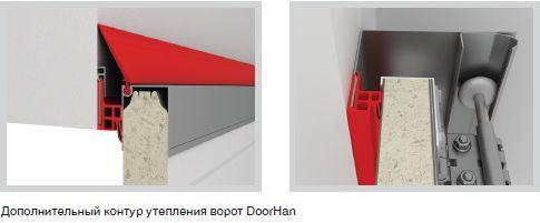Дополнительный контур утепления ворот DoorHan