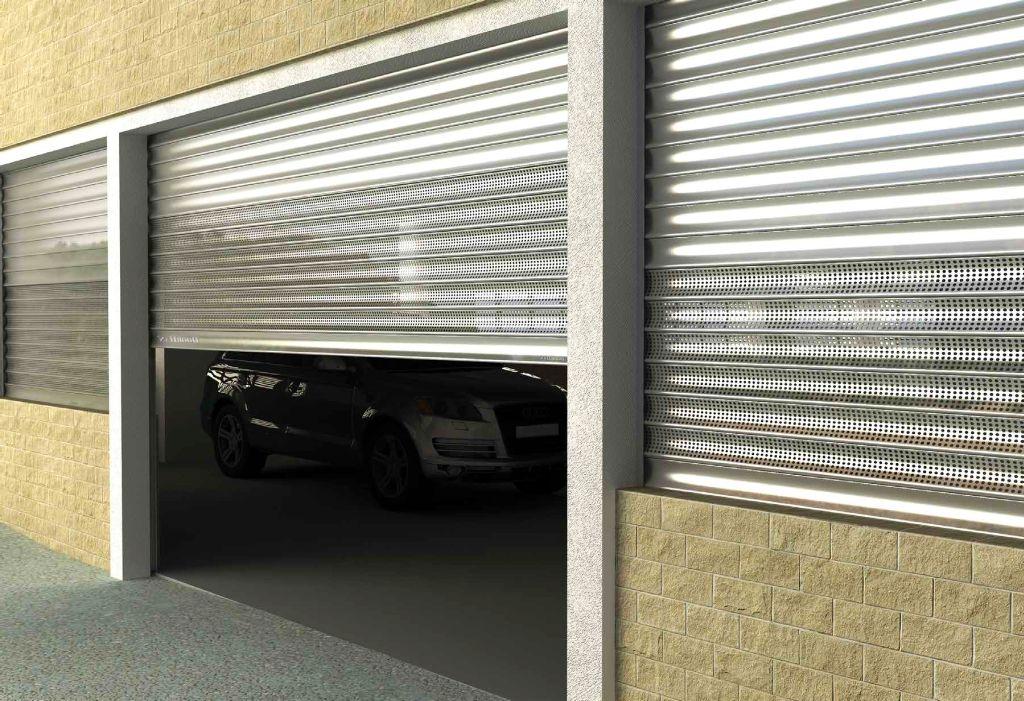 стальные рольставни в гараж