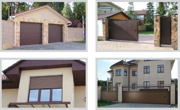 Ворота и двери Doorhan в одном дизайне