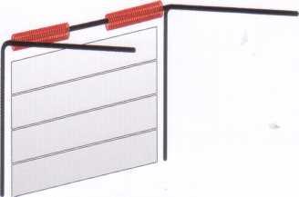 Ворота, в которых уравновешивание полотна осуществляется торсионным механизмом с передним расположением вала