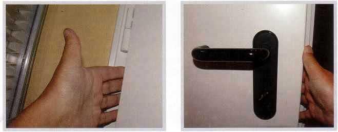 Зоны риска защемления пальцев в дверях немецкого производителя