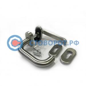 DH25134R Ручка для врезной левой калитки секционных ворот со штифтом на 8мм из нержавеющей стали